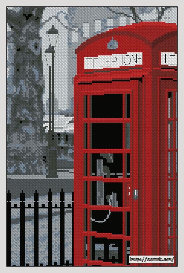 """Сачать схему вышивки """"London"""