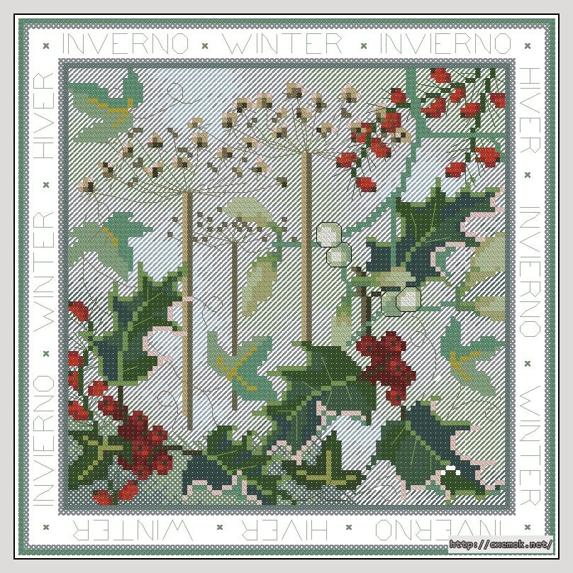 Winter110x110 крестов33 цветов