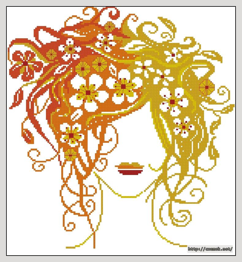 Cхемы схема по цветам девушка