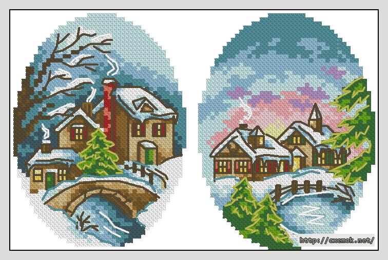 Зимние открытки88x58 крестов21