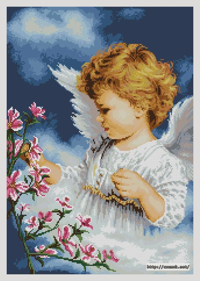 Ангелочек с цветущей
