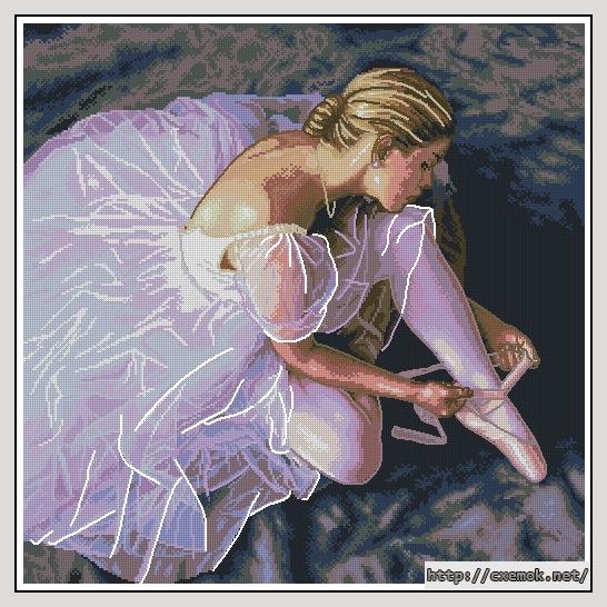 Скачать схемы вышивки балерина
