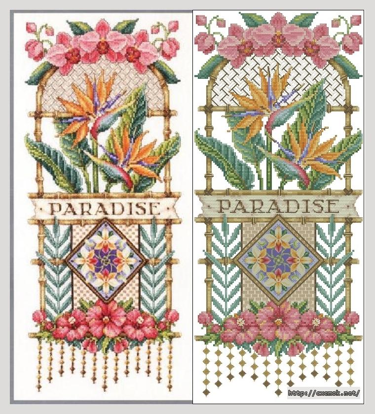 """Сачать схему вышивки """"Paradise"""
