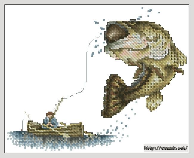 Мечта рыбака120x96 крестов35