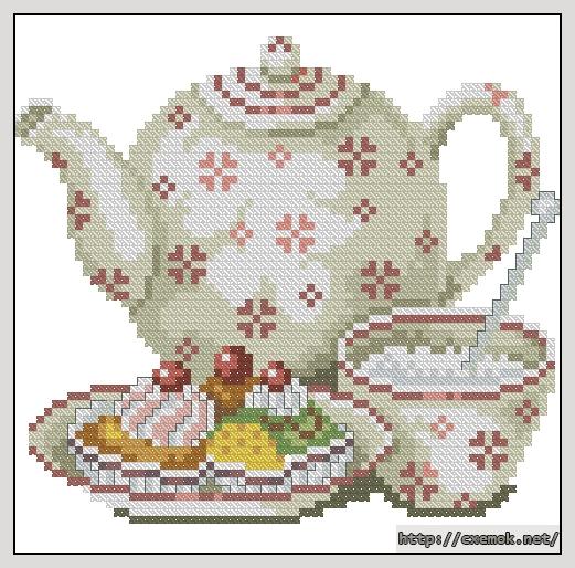 Скачать схемы вышивки Чайники