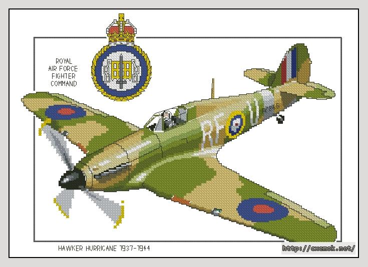 Вышивка крестом самолеты ретро 66