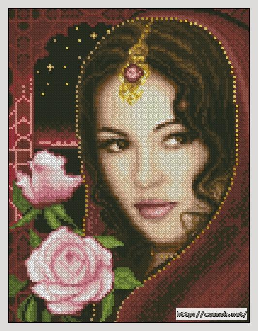 Схема вышивки девушка 9 фотография