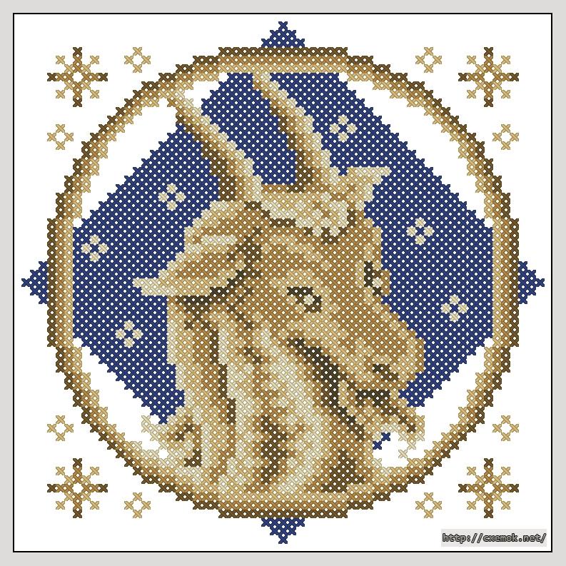 Cхемы вышивка крестом козерог