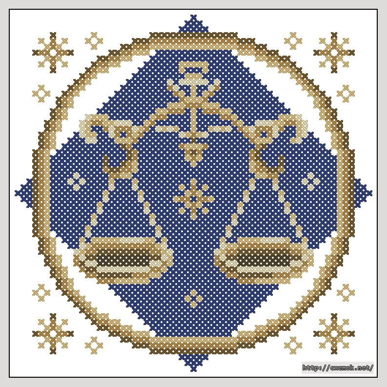 вышивка крестом весы схема