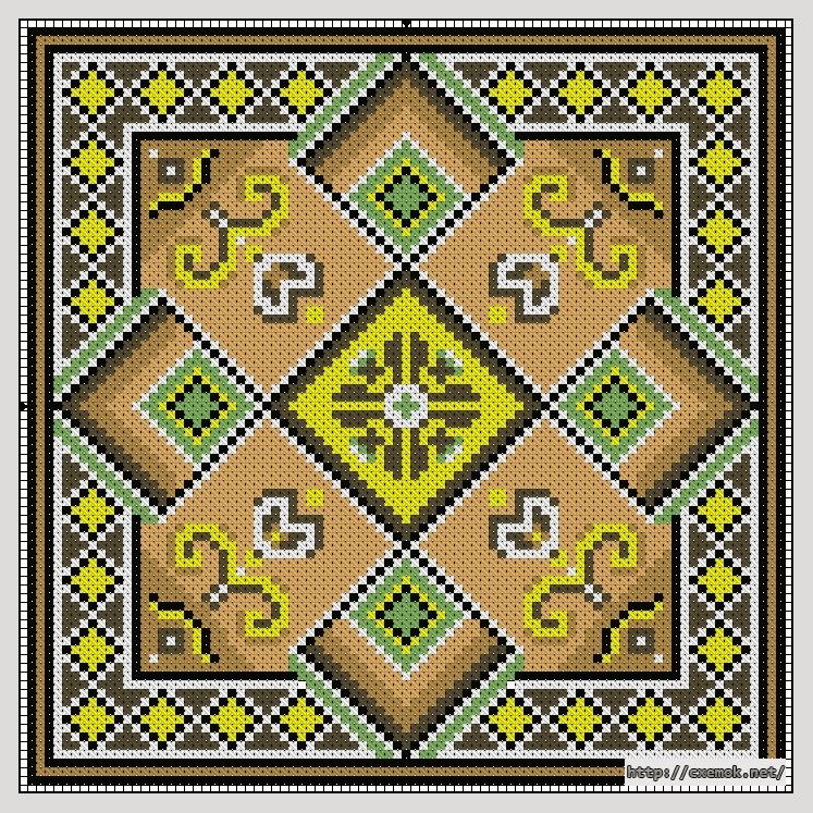 Cхемы вышивка крестом подушки