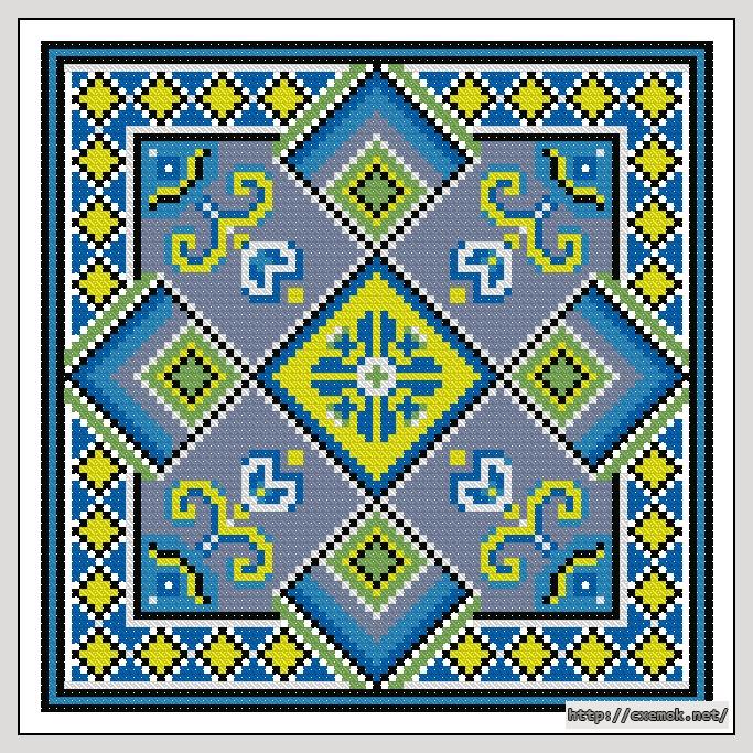 Cхемы схема вышивки подушки