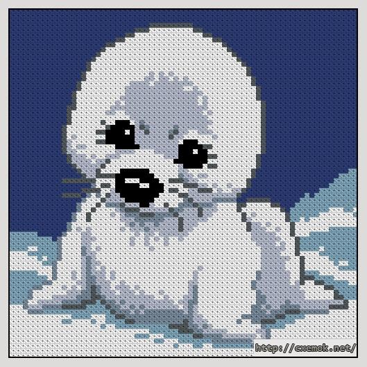 Скачать схемы вышивки тюлень
