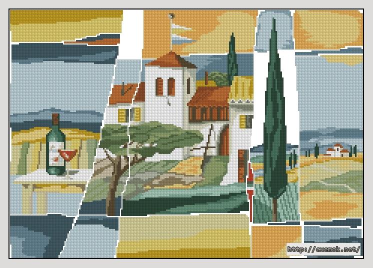 Италия235x165 крестов31 цветов