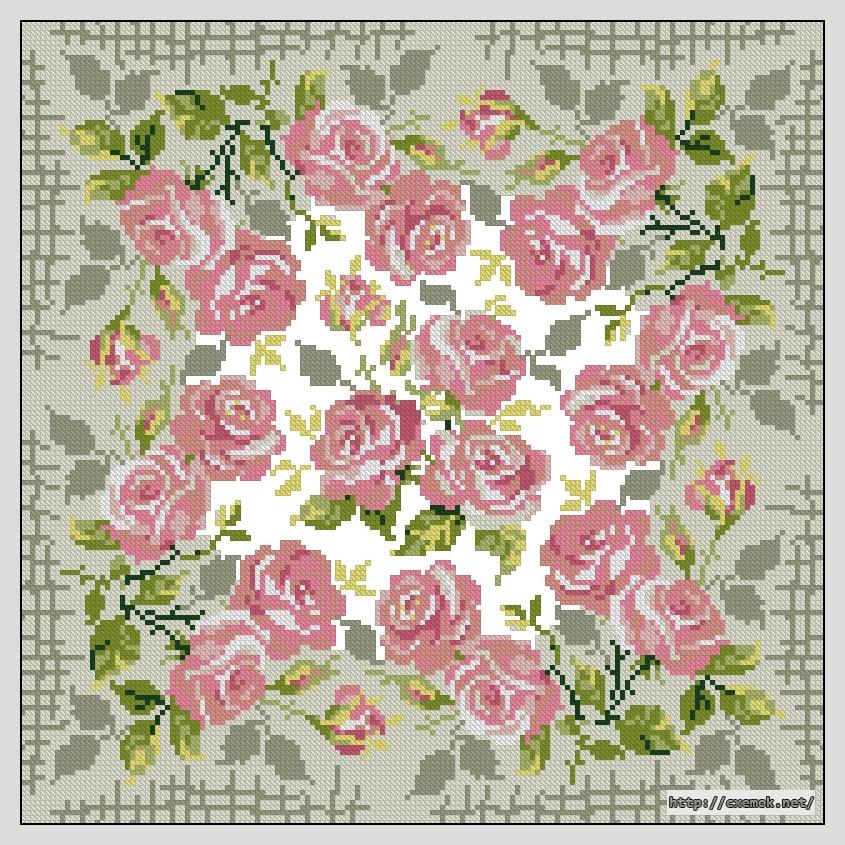 Розы161x161 крестов11 цветов