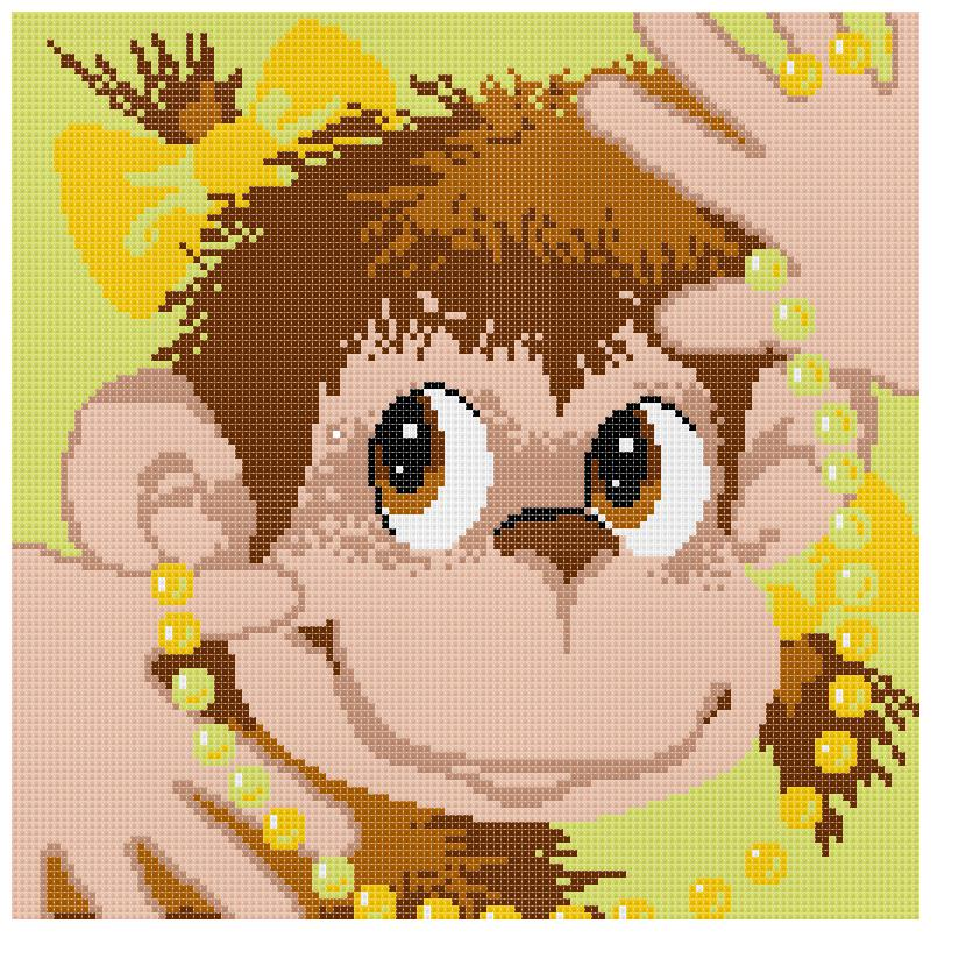Скачать схемы вышивки обезьяна