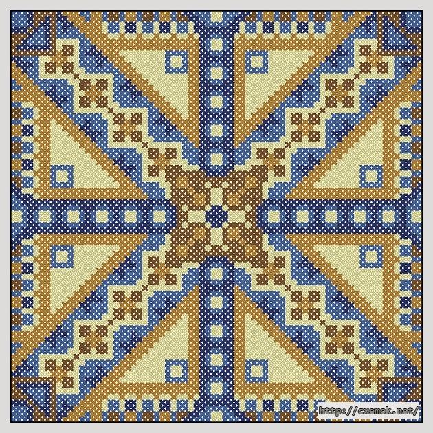 Орнамент72x72 крестов5 цветов
