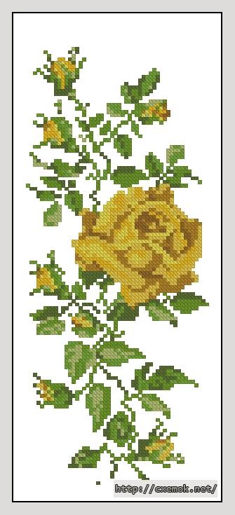 Схема вышивки крестом желтом