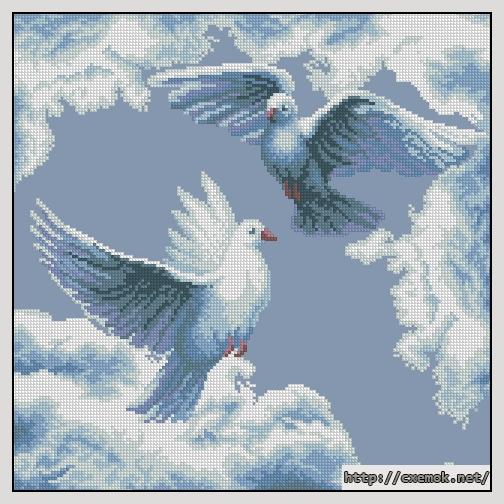 Cхемы вышивка крестом голуби