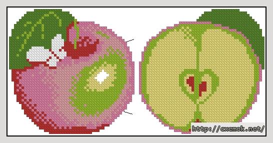"""Игольница """"яблоко""""104x52"""