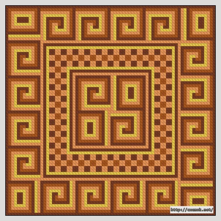 Узор для подушки72x72 крестов4