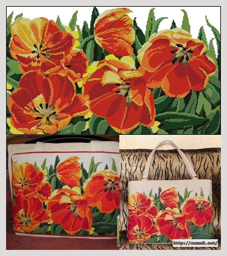 Сумка с тюльпанами250x150
