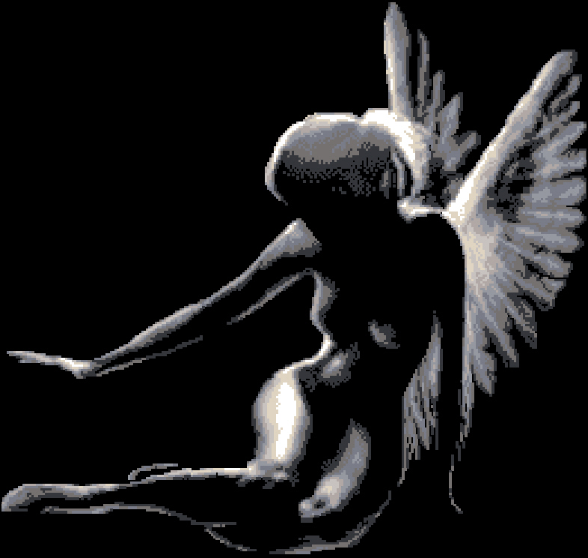Cхемы схема вишивки ангела