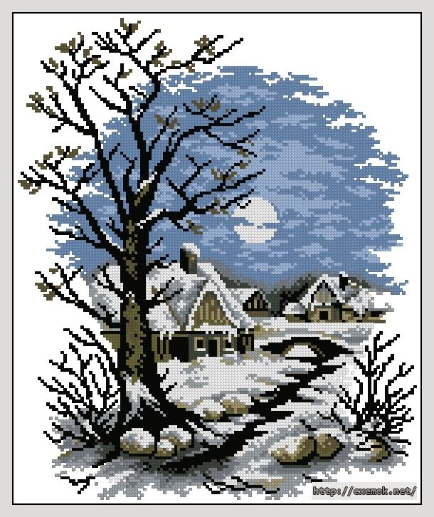 Зима144x173 крестов10 цветов