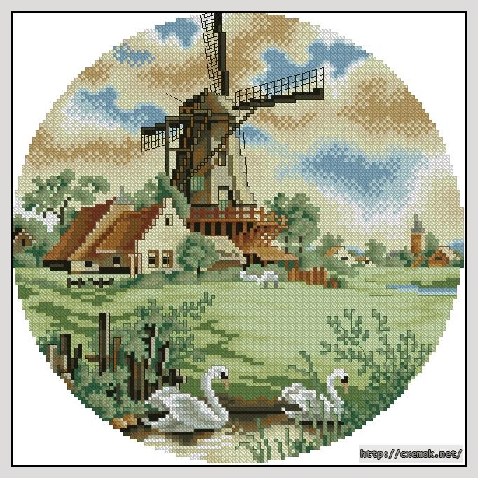 (пейзаж голландии)130x130