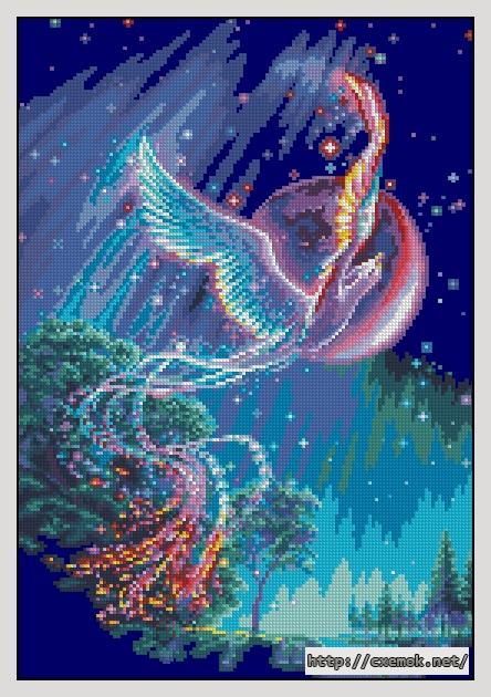Вышивка бисером птицы феникс