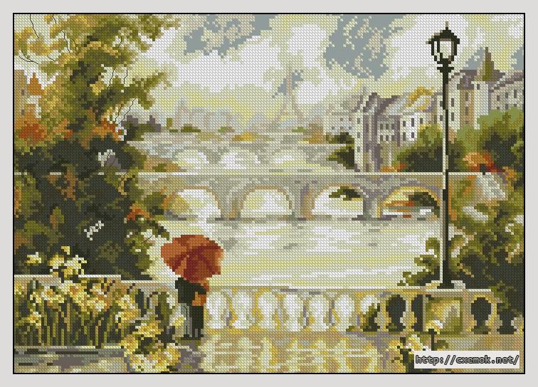 Париж. рассвет180x127