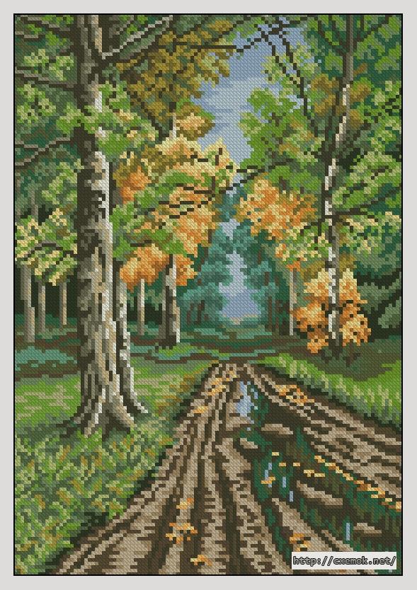 Дорога в лесу110x159 крестов34
