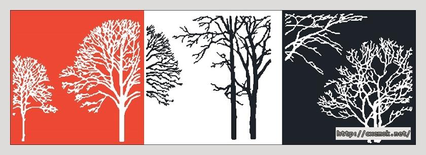 Деревья910x304 крестов3 цветов