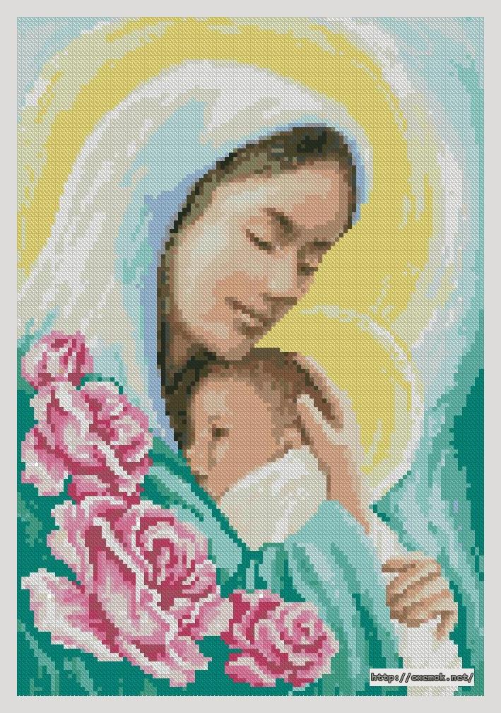 Вышивка крестом мария с младенцем 41
