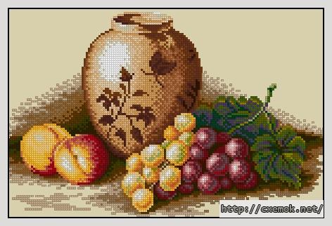 Персики и виноград150x97