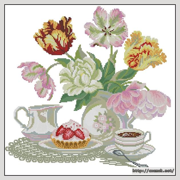 Натюрморт с тюльпанами193x191