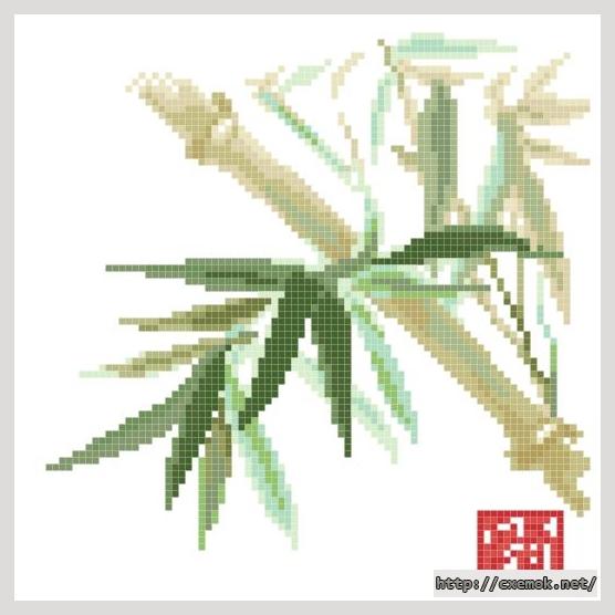 Бамбук85x85 крестов18 цветов .