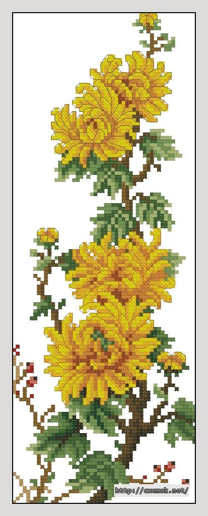 Панно 352x139 крестов18 цветов .