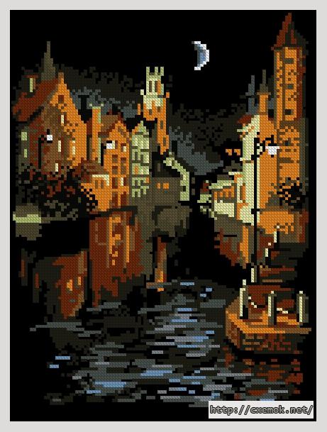 Ночной город108x145 крестов14