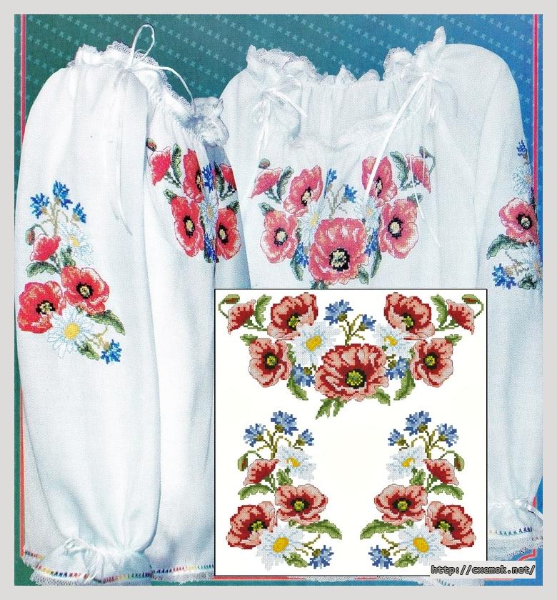 Сорочка с маками136x153