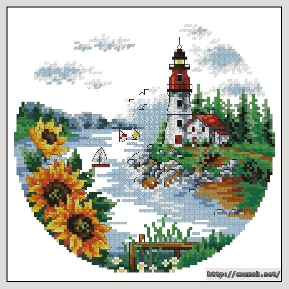 Схему Вышивки Крестом Sunflowers In A Drear