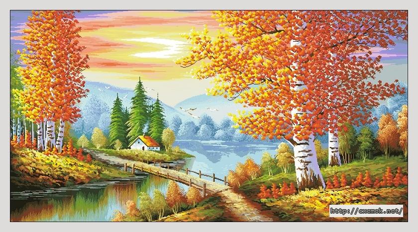 """Сачать схему вышивки """"Осенний"""