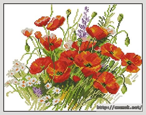 Маки147x114 крестов19 цветов