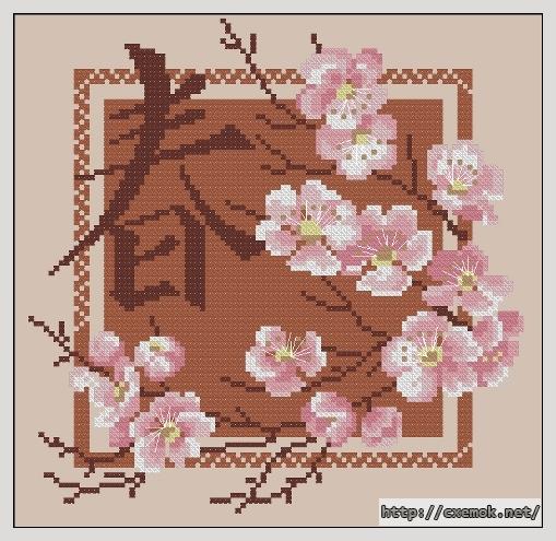 Весна98x98 крестов8 цветов