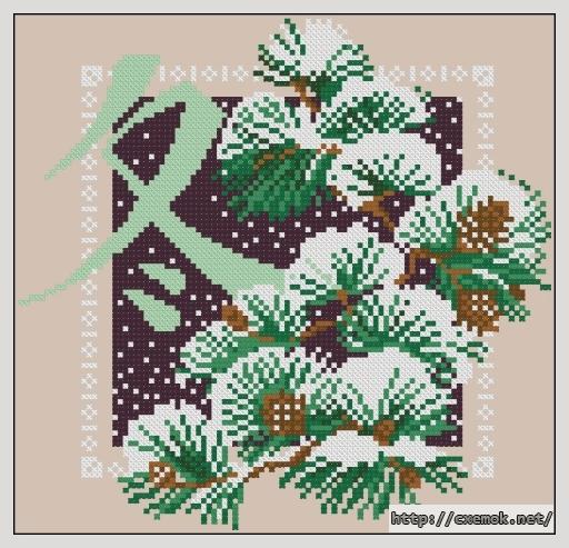 Зима102x98 крестов8 цветов .