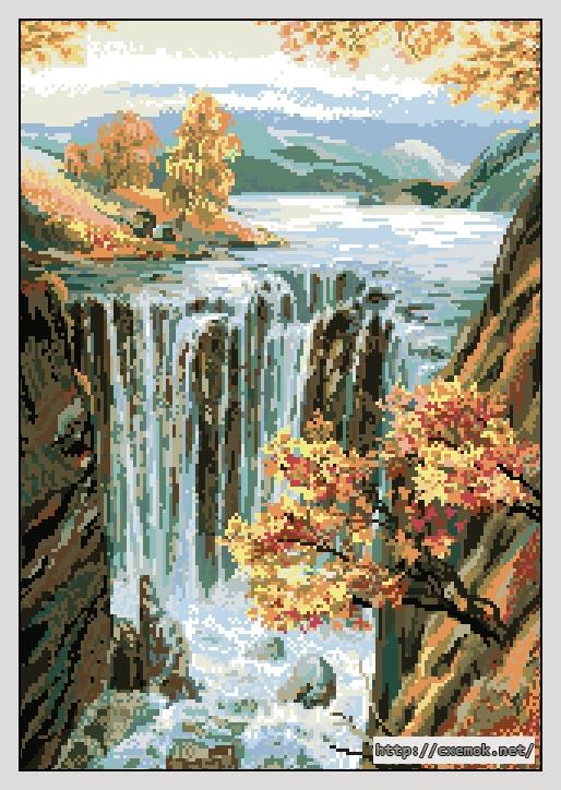 Вышивка бисером водопад к 100